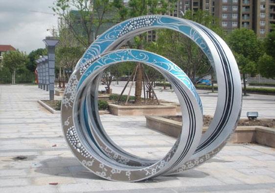 溪城口不锈钢商业美陈雕塑